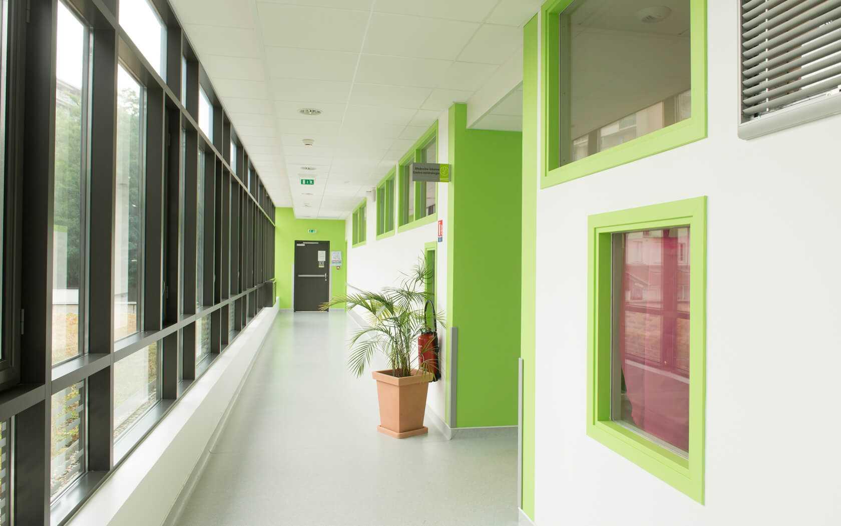 couloirs de l'infirmerie protestante