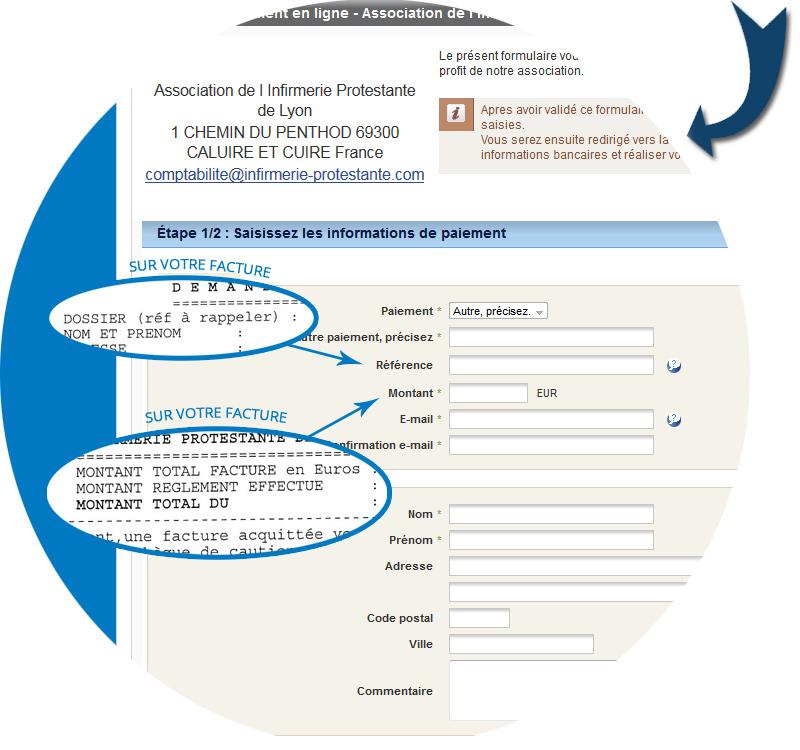 Paiement en ligne infirmerie protestante de lyon for Paiement en ligne hotel