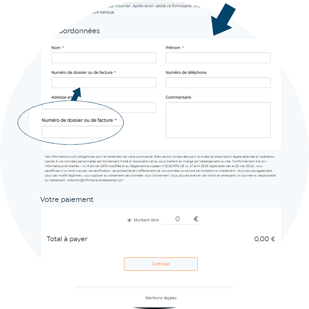 Aide au paiement en ligne